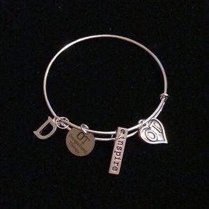 Silver bangle bracelet for OT